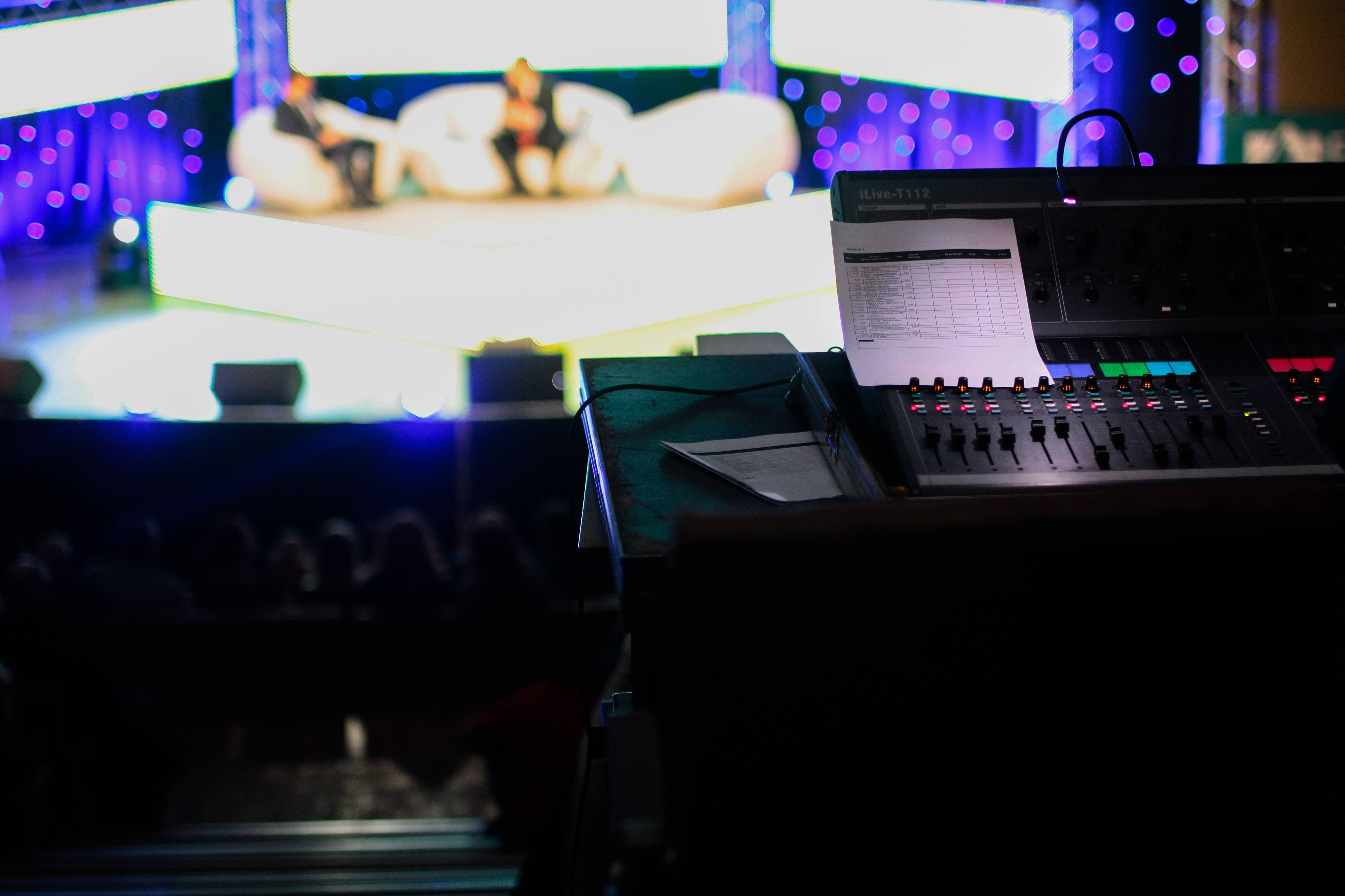 view of a show from sound mixing table